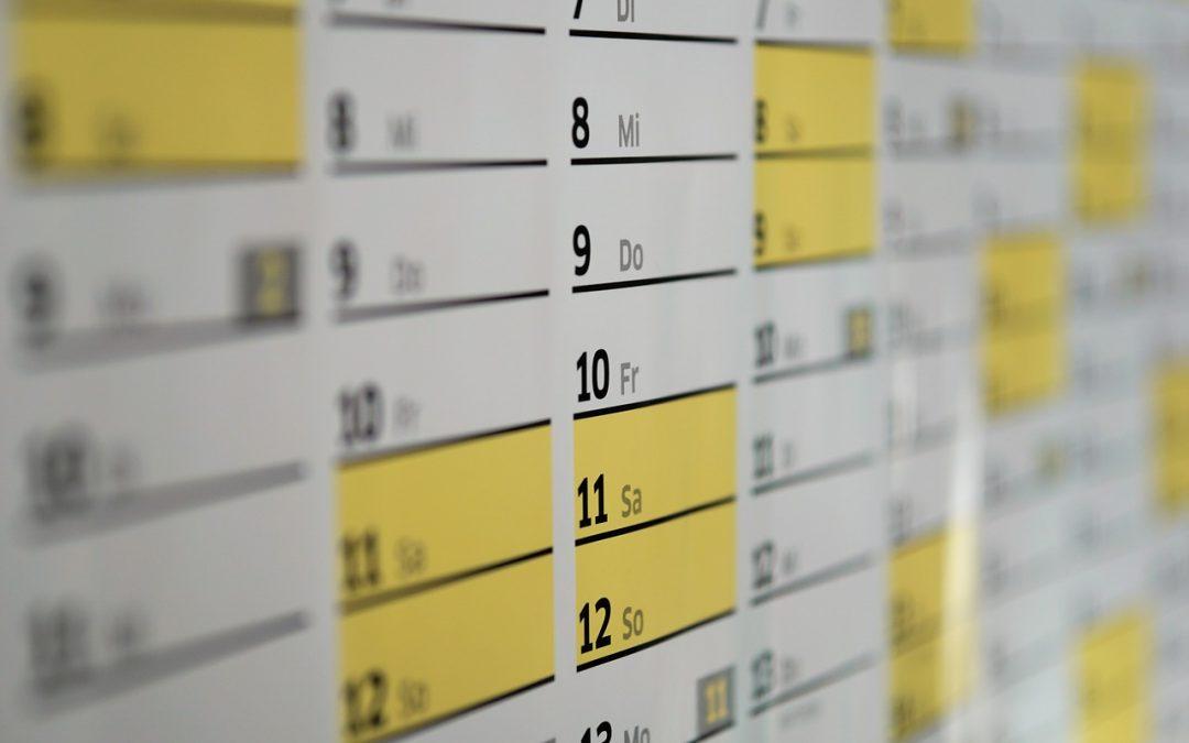 Was sollte man über das Layout von Kalendern wissen?